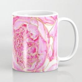 Pink and gold peonies, Sally Coffee Mug