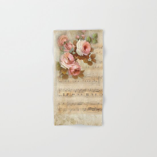 Vintage Music #5 Hand & Bath Towel