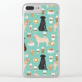 Labrador retriever gifts for lab owners golden retriever chocolate lab black lab dog breeds Clear iPhone Case