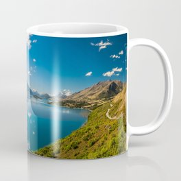Breathtaking View from a famous scenic Lookout at Lake Wakatipu Coffee Mug