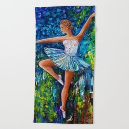 Dance In The Rain Of Color Beach Towel
