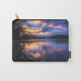The Edge of Night sunset on the Sacramento River Carry-All Pouch
