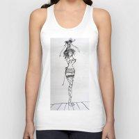 burlesque Tank Tops featuring Burlesque by Frances Roughton