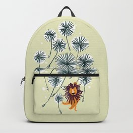 Lion on dandelion Backpack