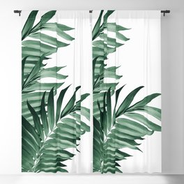 Palm Leaves Tropical Green Vibes #3 #tropical #decor #art #society6 Blackout Curtain