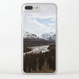 Matanuska River Bend, Alaska Clear iPhone Case