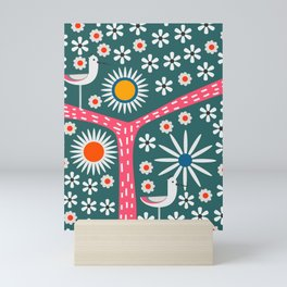 Sunny bird route Mini Art Print