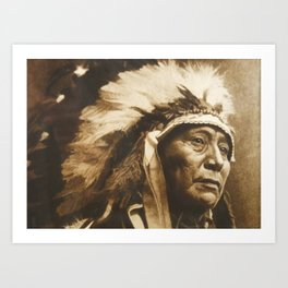 Chief Running Antelope - Native American Sioux Leader Art Print