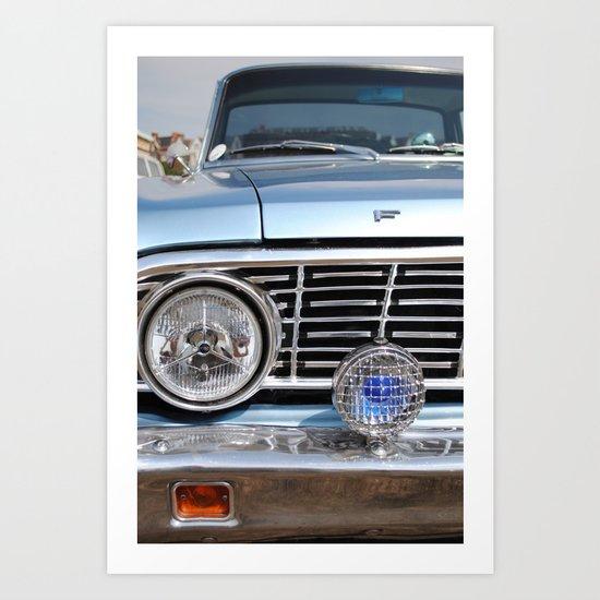 sweet vintage car Art Print