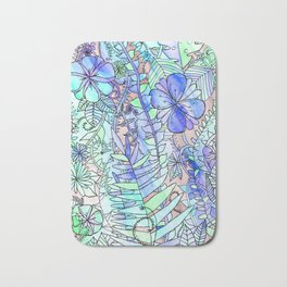 Blue, Mint & Purple Bath Mat