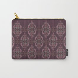 Vintage Burgundy vertical Carry-All Pouch