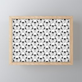 Plume (Patterns Please) Framed Mini Art Print