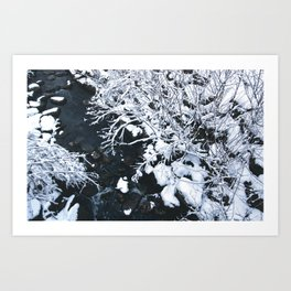 Snowfall at Brickworks on Christmas Day, 2020. LXXII Art Print
