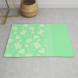Laced green Rug