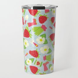 Strawberry Fields Floral Pattern Travel Mug