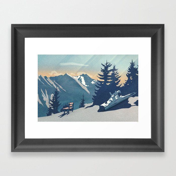 Mountain Sunrise (Pause II) Framed Art Print