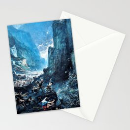 12,000pixel-500dpi - Gustave Dore - Roland1 at Roncevaux - Digital Remastered Edition Stationery Cards