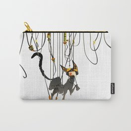 """Lili B. """"Entangled cat"""" Carry-All Pouch"""