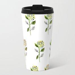 Watercolor Berry Flowers Travel Mug