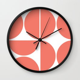 Mid Century Modern Living Coral Square Wall Clock