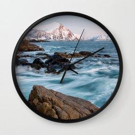 Winter Sea - Norway Wall Clock