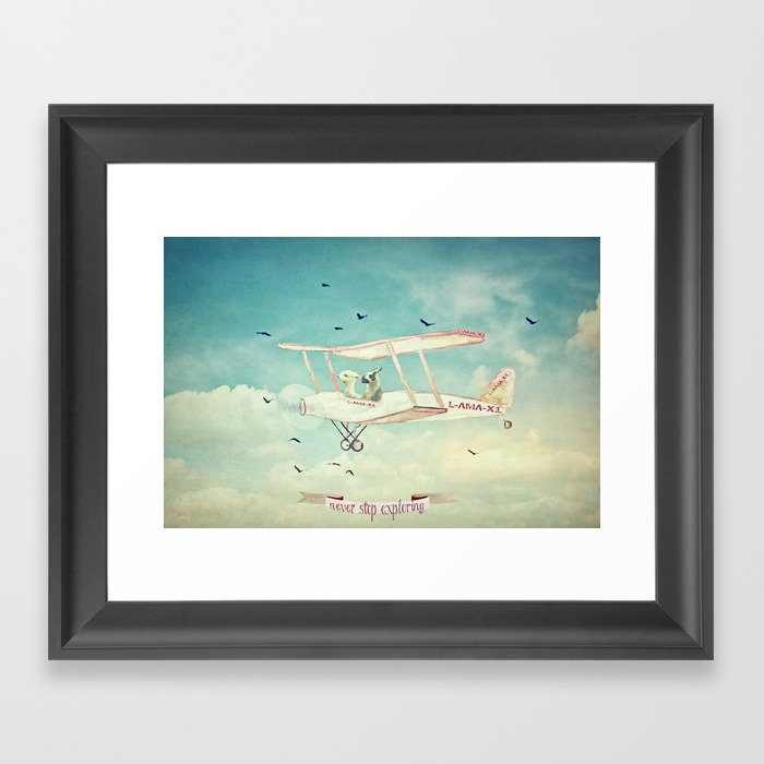 Never Stop Exploring III - THE SKY Framed Art Print