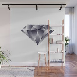 Shiny Diamond Gem Stone with a Sparkle Wall Mural