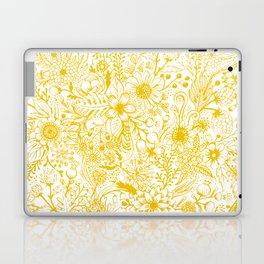Yellow Floral Doodles Laptop & iPad Skin