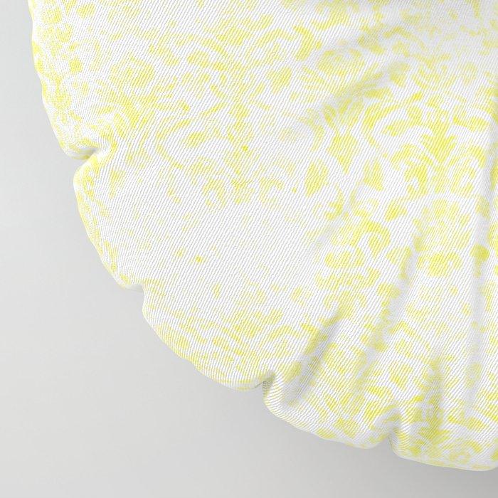 Damask Yellow Floor Pillow