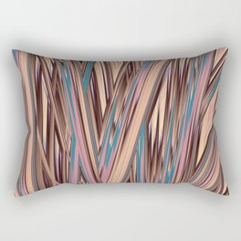 LYON pink peach turquoise brown glowing tall grass Rectangular Pillow