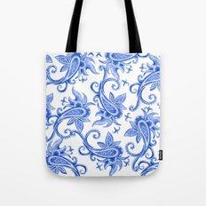 Paisley: Blue China Combo Tote Bag