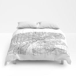 DETROIT MAP PRINT Comforters