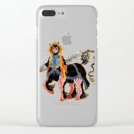 Middle age Centaur Clear iPhone Case
