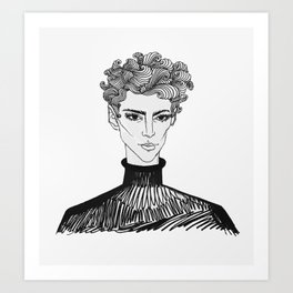 masc4mascara Art Print