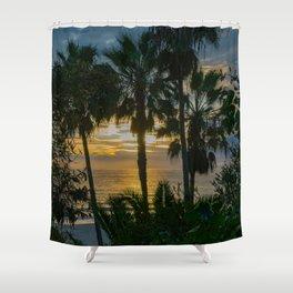 Sunset Through the Palms Shower Curtain