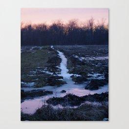 Frosty Sunset Canvas Print