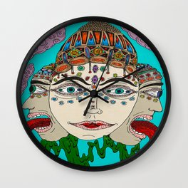 Goddess Of Wisdom Wall Clock