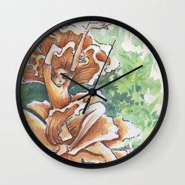 Empire of Mushrooms: Cantharellus cibarius Wall Clock