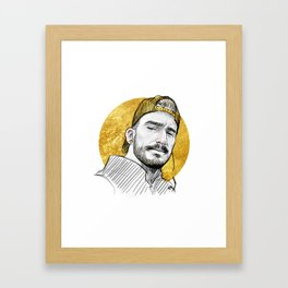 Gold Hat Framed Art Print