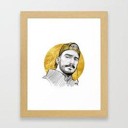 Gold Hat Framed Art Print