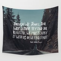 waldo Wall Tapestries featuring Road Trip Emerson by Leah Flores