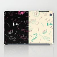 tegan and sara iPad Cases featuring Doodlethrob (Tegan and Sara) two tone by MR Kent