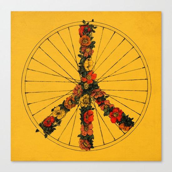 Peace & Bike (Colors) Canvas Print