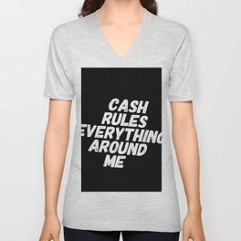 Cash Rules CREAM Unisex V-Neck