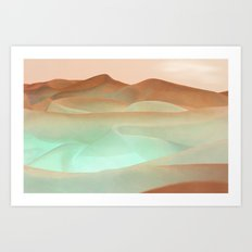 Abstract Terracotta Landscape Art Print