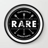 rare Wall Clocks featuring Rare by Taylor Shute