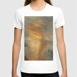 The Burning of the Houses of Lords and Commons, 16 October 1834- Joseph Mallord WIlliam Turner T-shirt