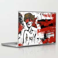 bondage Laptop & iPad Skins featuring Bondage Color W by Red Dust