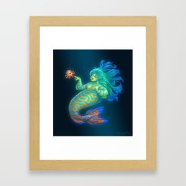 Mandarin Mermaid Framed Art Print