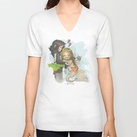 kili V-neck T-shirts featuring Kili and Mer!Fili by AlyTheKitten